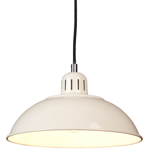 Elstead Franklin 1 Light Ceiling Pendant Light, Cream - FRANKLIN/P CR