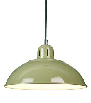 Elstead Franklin 1 Light Ceiling Pendant Light, Green - FRANKLIN/P GRN