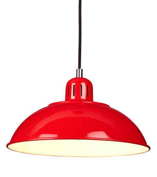 Elstead Franklin 1 Light Ceiling Pendant Light, Red - FRANKLIN/P RED