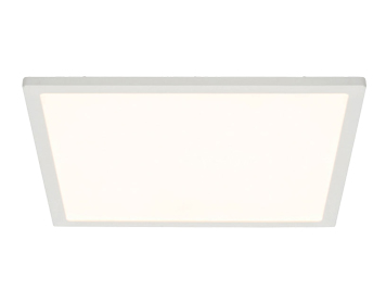 Endon Ceres 10W LED Square Medium Flush Fitting Ceiling Light, Gloss White & Opal Plastic Finish - G9446205