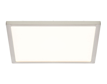 Endon Ceres 10W LED Square Medium Flush Fitting Ceiling Light, Satin Nickel & Opal Plastic Finish - G9446213
