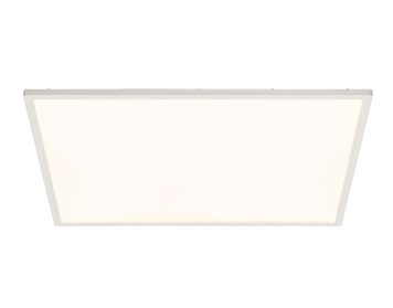 Endon Ceres 30W LED Square Large Flush Fitting Ceiling Light, Gloss White & Opal Plastic Finish - G9446305