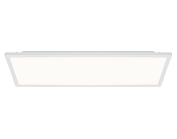 Endon Ceres 20W LED Rectangle Flush Fitting Ceiling Light, Gloss White & Opal Plastic Finish - G9446405