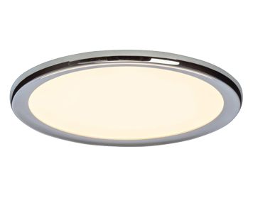 Endon Neptun Easydim LED Flush Ceiling Light Chrome Plate Opal Plastic Finish