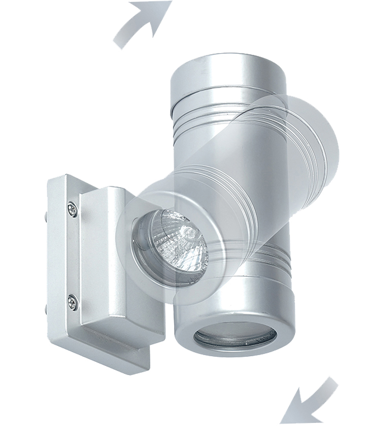 Endon Gigo Double Wall Lantern IP55 With A Swivel Head, Silver Aluminium - GD-710 from Easy ...