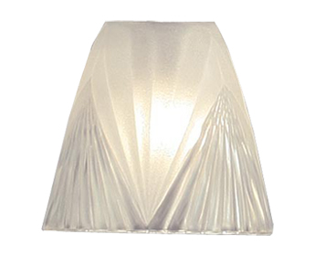 Interiors 1900 Columbia Shade Accessory, Clear Glass With Frosted Inner - GL6