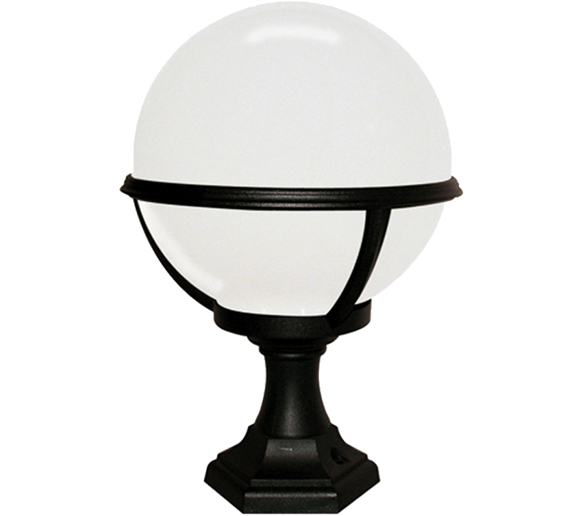 Elstead York Pedestal Lantern Light Black: Elstead Glenbeigh Coastal Pedestal/Porch Lantern, Black