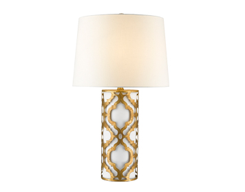 Elstead Gilded Nola Arabella Table Lamp, Distressed Gold Finish With Linen Shade - GN/ARABELLA/TL/G