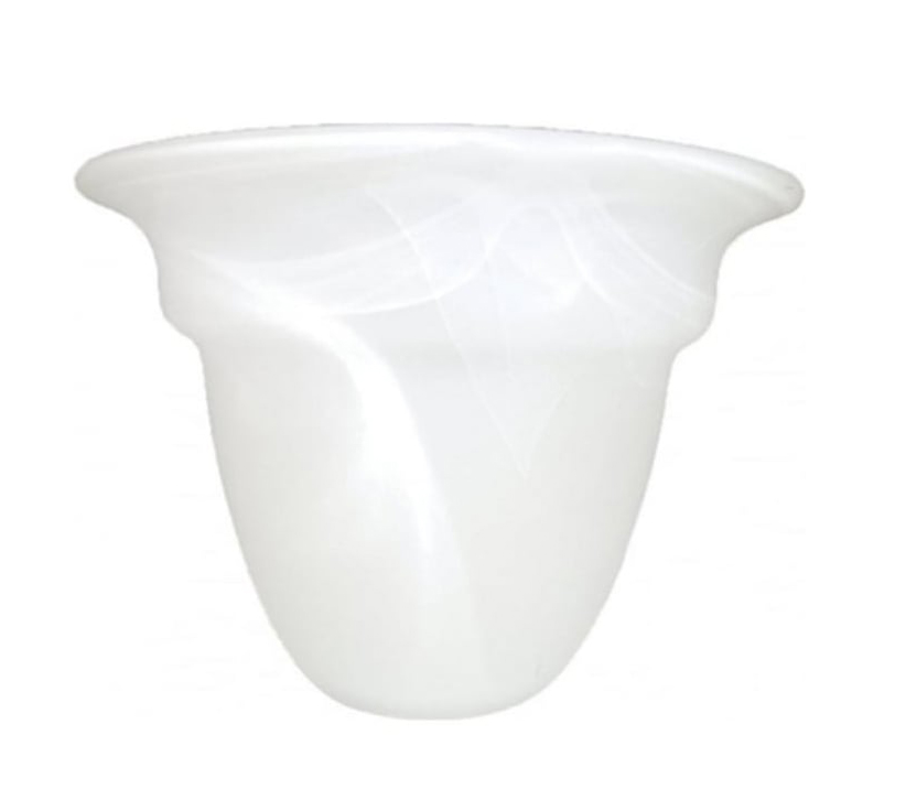 Elstead White Alabaster Glass Shade (150mm X 110mm)