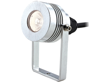 Elstead Garden Zone Elite 5S LED Small Sized Plug & Go 12v Wall/Pole Fitting, Anodised Aluminium Finish - GZ/ELITE5/S