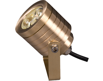 Elstead Garden Zone Elite 6 12v LED Wall/Pole Fitting, Natural Brass Finish - GZ/ELITE6