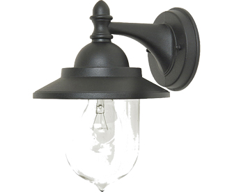 Elstead Garden Zone Sandown 1 Light Wall Lantern, Black - GZH/SDN2