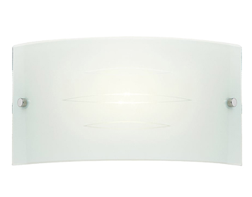 Endon Hadley 1 Light Wall Light, Satin Chrome Finish With Gloss White Patterned Glass - HADLEY-1WBWH