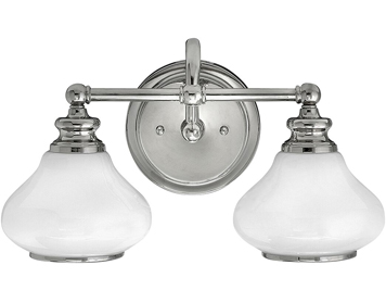 Elstead Hinkley Ainsley 2 Light Bathroom Wall Light - HK/AINSLEY2 BATH