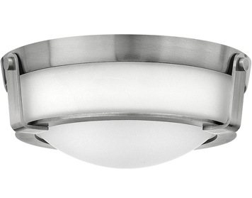 Elstead Hinkley Hathaway 2 Light Small Flush Mount, Antique Nickel Finish - HK/HATHAWAY/F/SN