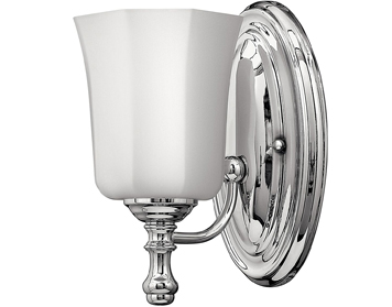 Elstead Hinkley Shelly 1 Light Bathroom Wall Light, Polished Chrome Finish - HK/SHELLY1 BATH