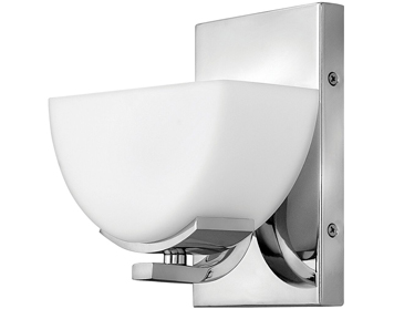 Elstead Hinkley Verve 1 Light Bathroom Wall Light, Polished Chrome Finish - HK/VERVE1 BATH