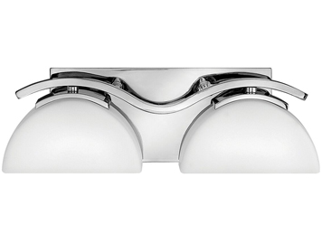 Elstead Hinkley Verve 2 Light Bathroom Wall Light, Polished Chrome Finish - HK/VERVE2 BATH