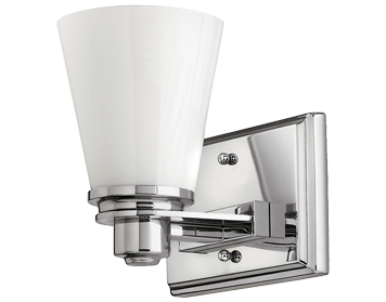 Elstead Hinkley Avon 1 Light Wall Light, Polished Chrome - HK/AVON1 BATH
