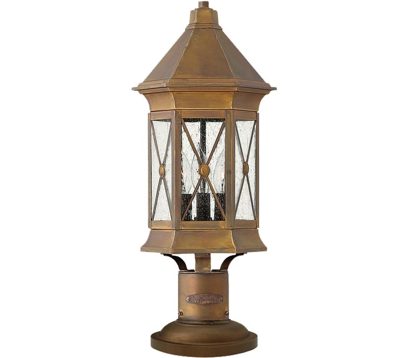 Hinkley Montreal Pedestal Light: Elstead Hinkley Brighton Pedestal Lamp, Sienna Finish