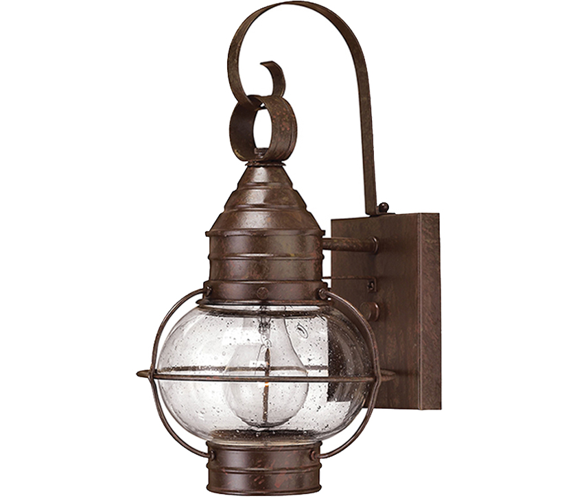 Elstead Hinkley Cape Cod Small Wall Lantern, Sienna Bronze - P1-HK/CAPECOD2/S Clearance