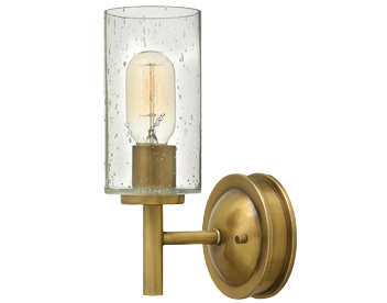 Elstead Hinkley Collier 1 Light Wall Light, Antique Brass Finish - HK/COLLIER1
