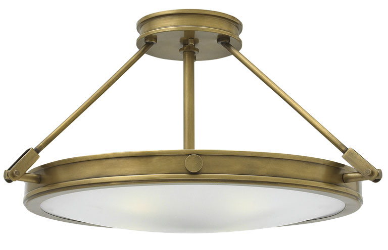Elstead hinkley collier 4 light large semi flush ceiling light elstead hinkley collier 4 light large semi flush ceiling light antique brass aloadofball Images
