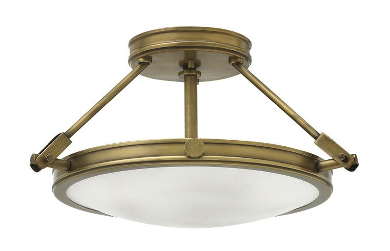 Elstead hinkley collier 3 light semi flush ceiling light antique elstead hinkley collier 3 light semi flush ceiling light antique brass mozeypictures Gallery