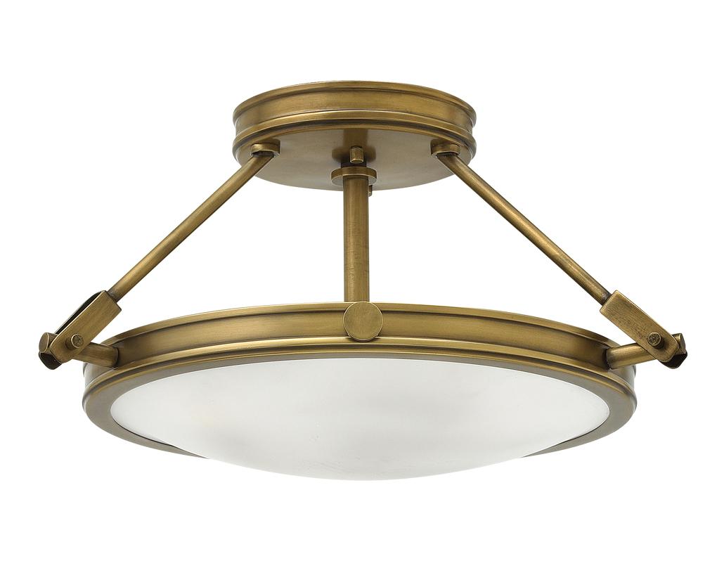 Elstead hinkley collier 4 light large semi flush ceiling light elstead hinkley collier 3 light semi flush ceiling light antique brass mozeypictures Gallery