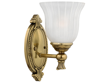 Elstead Hinkley Francoise Bathroom Wall Light, Burnished Brass - HK/FRANCOI1 BATH
