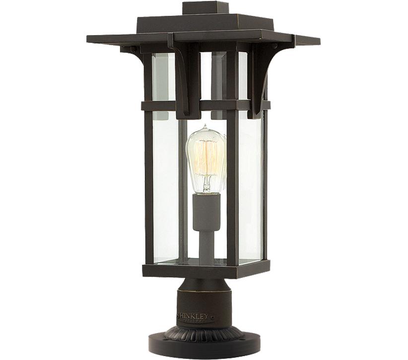 Hinkley Montreal Pedestal Light: Elstead Hinkley Manhattan Pedestal, Oil Rubbed Bronze