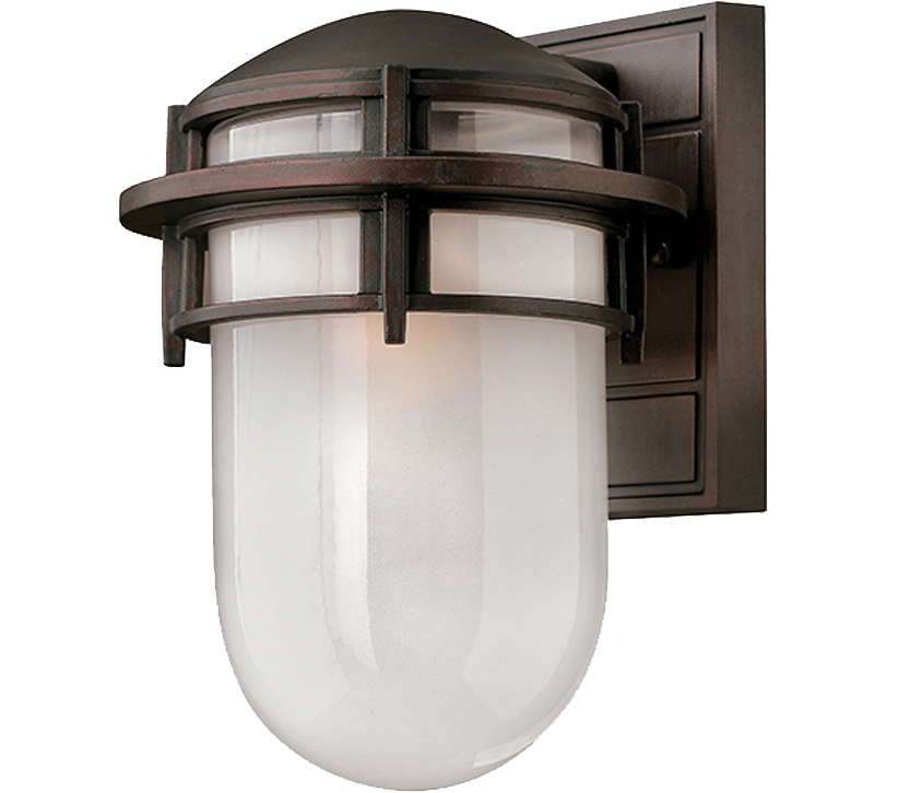 Elstead Hinkley Reef 1 Light Outdoor Small Downward Wall Light, Victorian Bronze - P2-HK/REEF/SMVZ Clearance