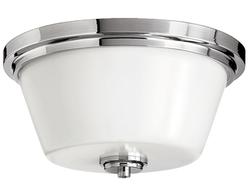 Elstead Hinkley Avon Bathroom Flush Ceiling Light, Polished Chrome - HK/AVON/F BATH