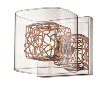 Huntington Park 1 Light Wall Light, Copper Finish - ITL10101