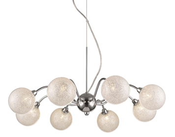West Covina 8 Light Decorative Ceiling Pendant, Clear Finish - ITL10186
