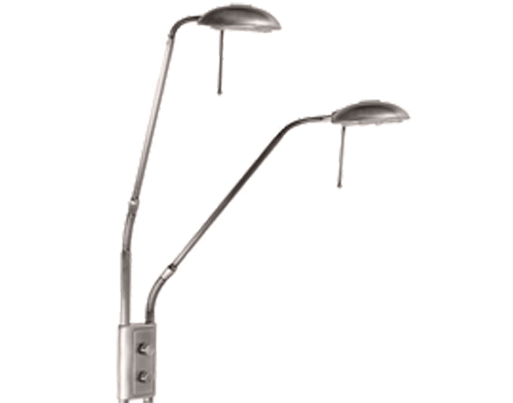 Oaks Lighting 'Juma' Floor Lamp, Satin Chrome - JUMA FL SC
