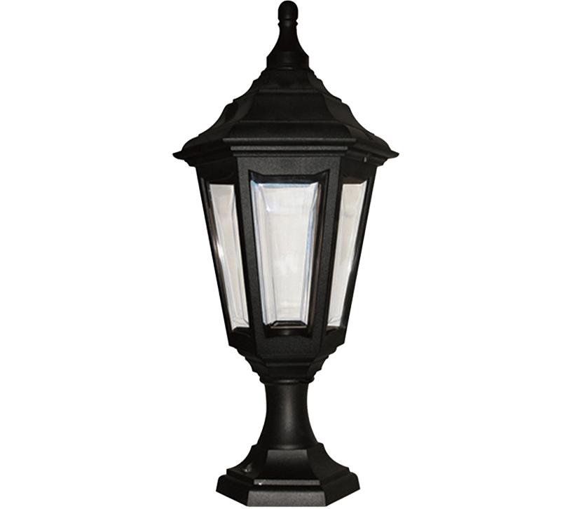 Elstead York Pedestal Lantern Light Black: Elstead Kinsale Coastal Pedestal Lantern, Black