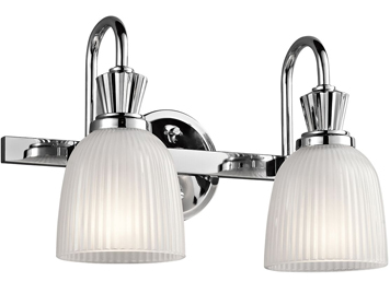 Elstead Kichler Cora 2 Light Bathroom Wall Light, Polished Chrome Finish - KL/CORA2 BATH