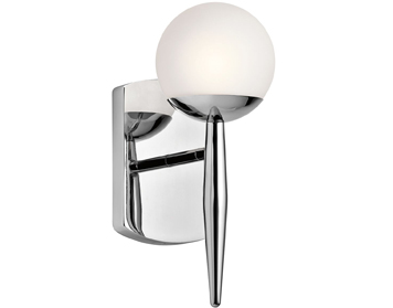 Elstead Kichler Jasper 1 Light Bathroom Wall Light, Polished Chrome Finish - KL/JASPER1 BATH