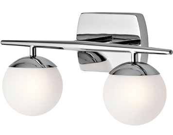 Elstead Kichler Jasper 2 Light Bathroom Wall Light, Polished Chrome Finish - KL/JASPER2 BATH