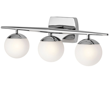 Elstead Kichler Jasper 3 Light Bathroom Wall Light, Polished Chrome Finish - KL/JASPER3 BATH