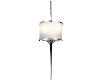 Elstead Hinkley Mona Small 2 Light Wall Light, Polished Chrome Finish - KL/MONA/S PC
