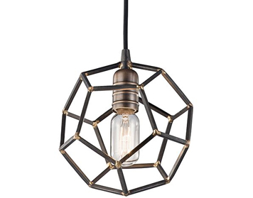 Elstead Kichler Rocklyn 1 Light Mini Pendant, Raw Steel Finish - KL/ROCKLYN/MP RS