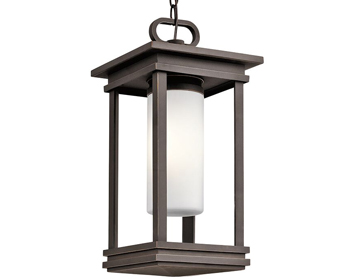 Elstead Kichler South Hope 1 Light Small Outdoor Chain Lantern, Rubbed Bronze Finish - KL/SOUTH HOPE8/S