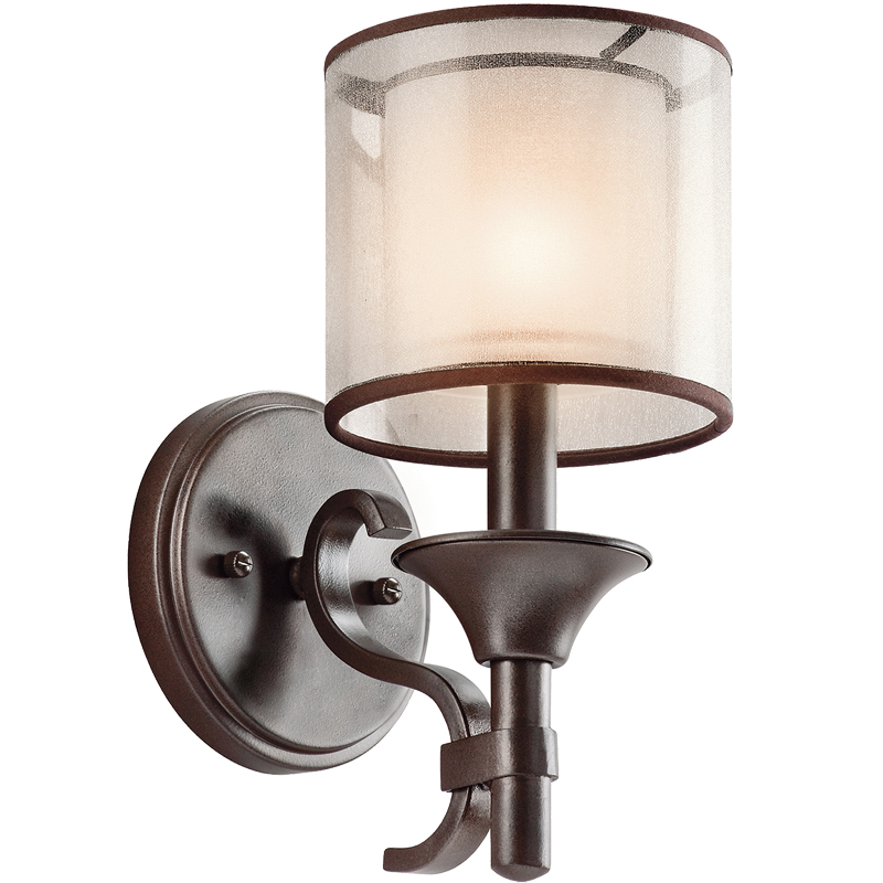 Elstead Kichler Lacey Single Wall Light, Mission Bronze Finish - KL/LACEY1 MB
