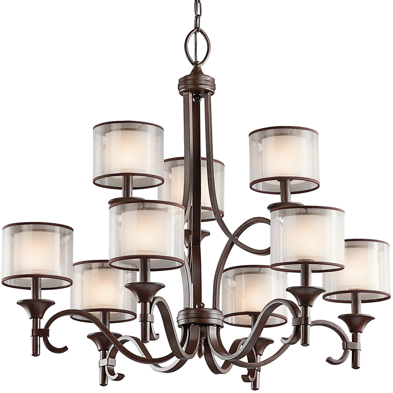 Elstead Kichler Lacey 9 Light Chandelier, Mission Bronze - KL/LACEY9 MB