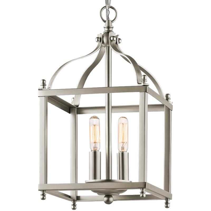 lantern pendant lighting. Elstead Kichler Larkin Small Pendant, Brushed Nickel - KL/LARKIN/P/S Lantern Pendant Lighting A