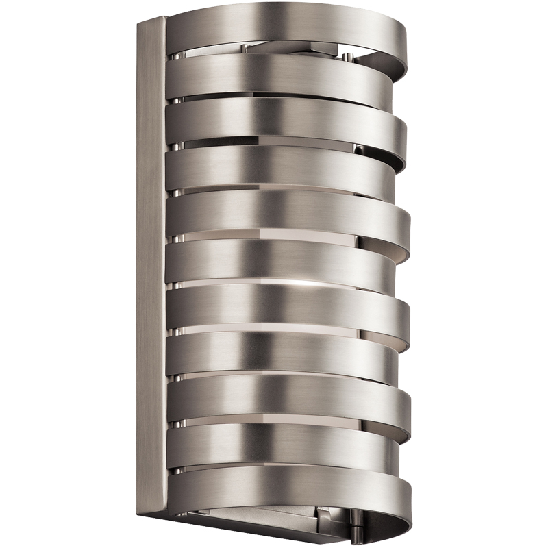 Elstead Kichler Roswell 1 Light Wall Light, Brushed Nickel Finish - KL/ROSWELL1