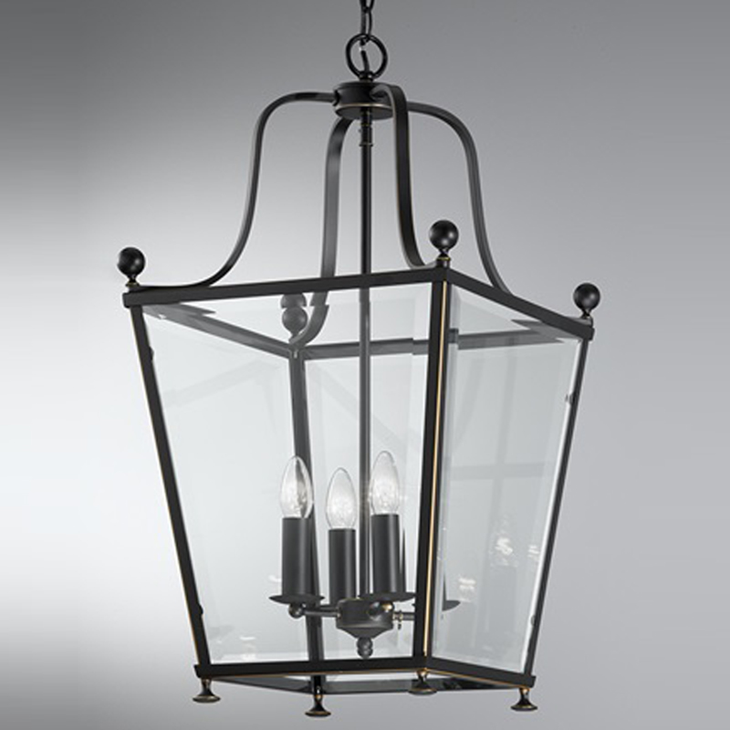 Franklite Atrio Large 4 Light Chrome Lantern Pendant