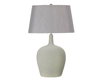 Elstead Lambeth 1 Light Table Lamp, Sage Green & Silver Ceramic Finish With Silver Shade - LAMBETH/TL